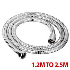 Shower Hose 1.2M To 2.5M Chrome Bath Flexible Stainless Steel Replacement Pipe