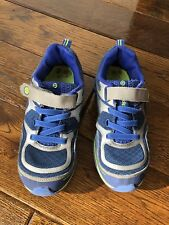 Pediped Blue And Silver Trainers With Velcro Fastening. Size 1 UK / 33 EU