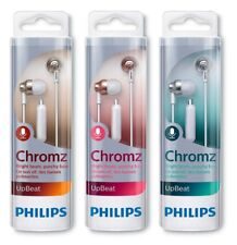 (3 Pack) Philips SHE3855 Upbeat Chromz Wired In-Ear Headphones with Mic