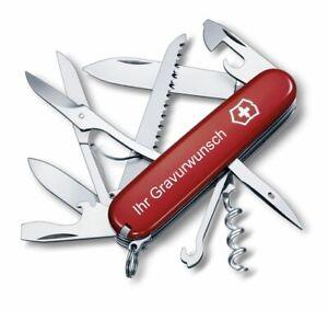 Victorinox Schweizer Taschenmesser Huntsman rot mit Gravur Geschenk Wunschname