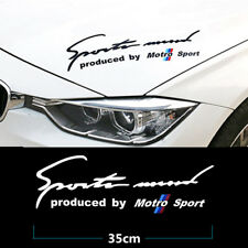 1Pcs White Sports Mind Motro Sport Car Front Hood Best PVC Sticker Racing Decals