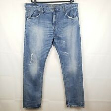 AMERICAN EAGLE OUTFITTERS ORIGINAL TAPERED MEN'S JEANS SIZE 42 X 32  Distressed