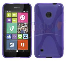 Cover in GEL TPU X-LINE VIOLA per NOKIA LUMIA 530 in SPAGNA case