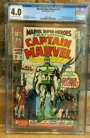 Marvel Super Heroes #12 Origin & 1st Appearance of Captain Marvel CGC 4.0
