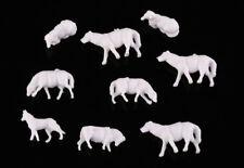 60pcs 1 87 Unpainted White Farm Animals Sheep Collie Dog Shepherd HO Scale Model