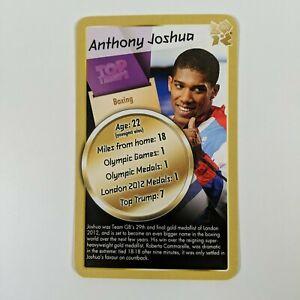 Rare 2012 London Olympics Gold Rookie Anthony Joshua AJ Boxing Top Trumps Card