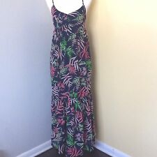 The Webster Miami Women's Sz 8 For Target Floral Palm Tree Print Maxi Dress