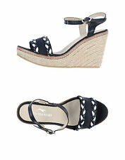 ETIQUETA NEGRA NAVY BLUE ESPADRILLES WEDGE SANDALS HEELS SIZE 6 39 RRP £145 NEW