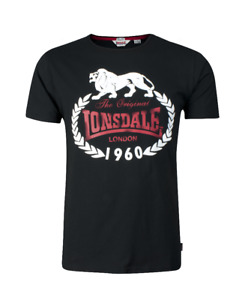 Lonsdale London T-Shirt Original 1960 113099-1000 black Slim Fit Herren Neu