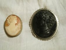 pendants cameo (damages) 2 antique brooches