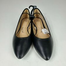 Time And True Womens size 11 Black Casual Ballet Flat Shoes Memory Foam NWT
