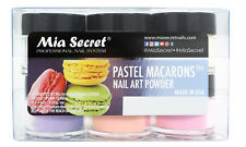 Mia Secret Nail Art Acrylic Professional Powder 6 Colors Set - PASTEL MACARONS