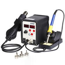 SMD Rework Soldering LCD Digital Station Hot Air Gun Solder Iron Welder