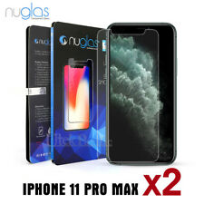 2x Apple iPhone 11 Pro XS Max XR 8 7 Plus NUGLAS Tempered Glass Screen Protector