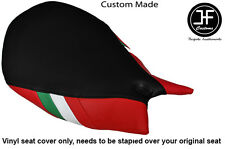 ITALIAN FLAG BLACK & RED VINYL CUSTOM FITS DUCATI 1199 PANIGALE FRONT SEAT COVER