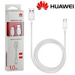 Genuine Huawei AP51 USB Type-C Data Charge Cable |Retail Boxed White 1.0m