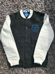 RARE Mens Deadstock Adidas Originals SPO Jacket Black White - Large