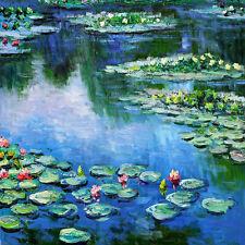 "CLAUDE MONET ~ Water lilies Sea rose 1906 ~ CANVAS ART PRINT Poster ~ 24""X 24"""