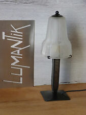 RARE 1 ancienne lampe fer forgé avec Tulipe MULLER Frères - Lampe ART DECO