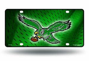 Philadelphia Eagles 2520 Green RETRO Design Metal License Plate Tag Football