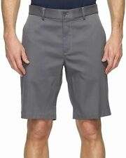 Nike Mens Dark Gray Size 30 Flat Front Solid Flex Core Golf Shorts $65 #306