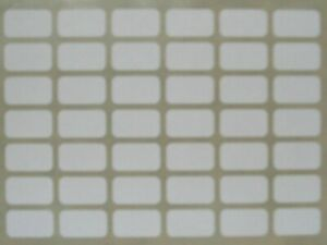 294 Small White Sticky Labels 9 x 16mm Price Stickers Tags Blank Self Adhesive