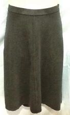 Ladies A-Line Skirt Size 12 Sussan Dark Grey Marle Viscose Nylon Elastin Stretch
