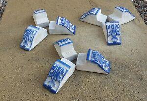 Set of 9 Blue Stone Garden LEAF Plant Pot Feet/ Pot Risers