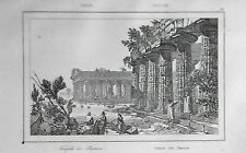 ITALIA:SALERNO, PAESTUM CON I TEMPLI GRECO/ROMANI.LEMAITRE.ITALIA.Artaud.1835