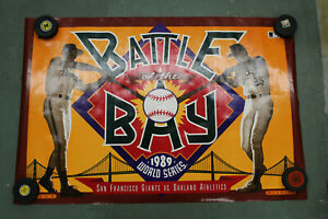 1989 NIKE Battle Of The Bay World Series POSTER 34x24 Will Clark Mark Mcgwire