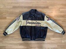 Veg Size 2XL Taz Tazmanian Devil Leather Jacket Looney Tunes Warner Bros Brown
