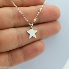 STAR NECKLACE - 925 Sterling Silver - Moon Celestial Star Galaxy Star Charm NEW