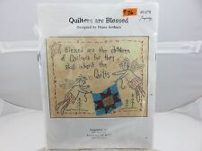 Quilters Are Blessed Diane Arthurs Embroidery Pattern Kit With Fabric and Thread
