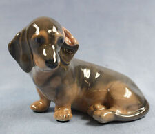 Dackel Porzellanfigur hund  Teckel porzellan figur Royal Copenhagen 1930