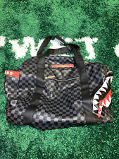 Limited Edition! Sprayground Sharks in Paris Mini Duffle Bag Black Checkered