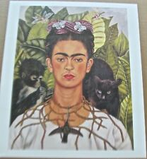 Frida Kahlo Self-Portrait with Thorn Necklace and Hummingbird Poster 15x13