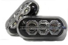 Black LED Side Repeaters Blinkers Renault Clio Mk1 Mk2 Mk3 96-05 Laguna