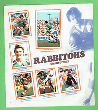#T47. 1983 SCANLENS RUGBY LEAGUE STICKERS - ILLAWARRA & SOUTH SYDNEY RABBITOHS