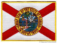 FLORIDA STATE FLAG embroidered iron-on PATCH EMBLEM applique - HIGHEST QUALITY