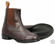 TuffRider Ladies Synthetic Zip Paddoc Boots Brown 101/2
