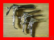 3 SMALL MEDIUM LARGE PEDERSON VAGINAL SPECULUM SURGICAL GYNOCOLOGY INSTRUMENTS