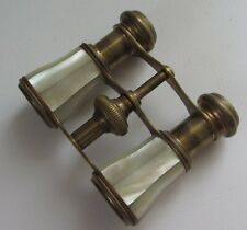 PAIRE DE JUMELLES THEATRE EN NACRE époque XIX EME MOTHER OF PEARL OPERA GLASSES
