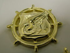 VANGUARD US ARMY TRANSPORTATION OFFICER BADGE COLLAR DEVICE DRESS BLUES 22K GOLD