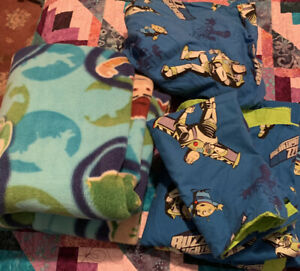 Buzz Lightyear Handmade Toddler Bedding Fitted Flat Bed Sheets Pillow Blanket