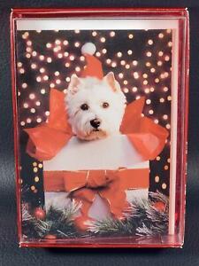 Graphique De France WESTIE CHRISTMAS CARDS Set of 15 w/Envelopes New in Box NIB