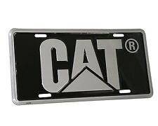 Caterpillar Equipment Black & Silver Gray License Plate Tag Novelty Cat Logo New