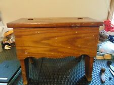 Vintage Shoe Shine Box Tall wood. solid with  brush