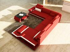 Wohnlandschaft Big Modernes Ledersofa Couch Patentiert NEU Designer Sofa Ecksofa