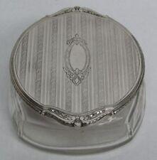 VINTAGE BLACKINTON & CO STERLING SILVER & CRYSTAL POWDER JAR