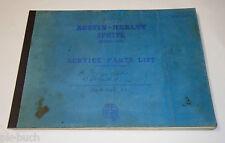 Teilekatalog / Service Parts List Austin Heealey Sprite Mark I, 1958 - 1961